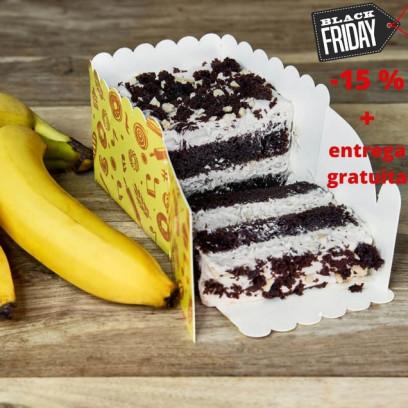 Pastel Plátano-Chocolate